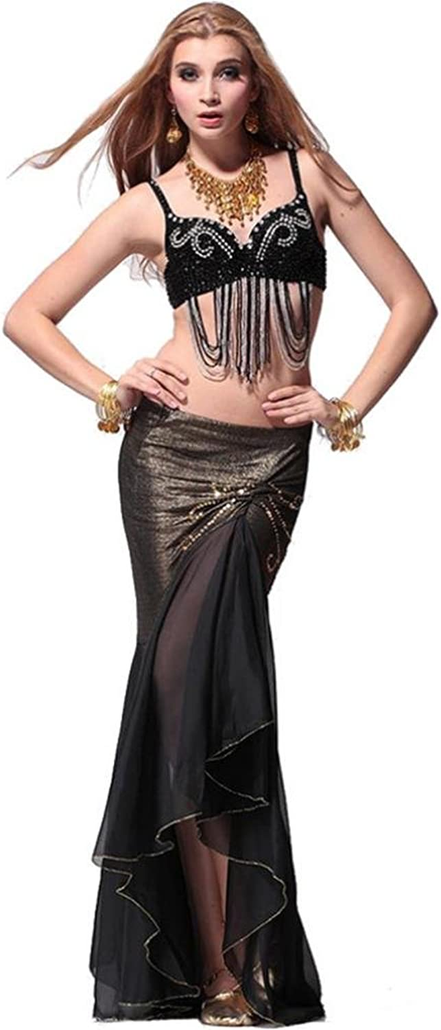 Diamond tassel tail belly dance clothing suits dresses