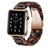 Sundaree® Compatible with Apple Watch バンド 38&40mm、ファッションな樹脂製ブレスレット 時計バンドfor iWatchバンド 、スポーツ&エディション バンド メタルステンレススチールバックル for アップルウォッチ シリーズ5/4/3/2/1 (亀の石の色 38mm)
