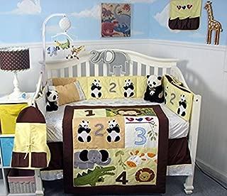 SoHo Baby Crib Bedding 9 Piece Set, Counting Animals