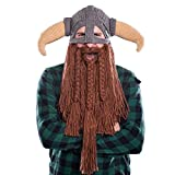 Beardo Bartmütze Wikinger - Strickmütze mit Bart (Horn Down)