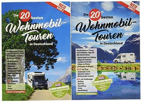 Die 20 besten Wohnmobiltouren in Deutschland Band 2 und 3: Beide Bände zum Paketpreis