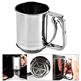Snowyee Flour Sifter, for Baking Stainless Steel 3 Cup Double Layers...