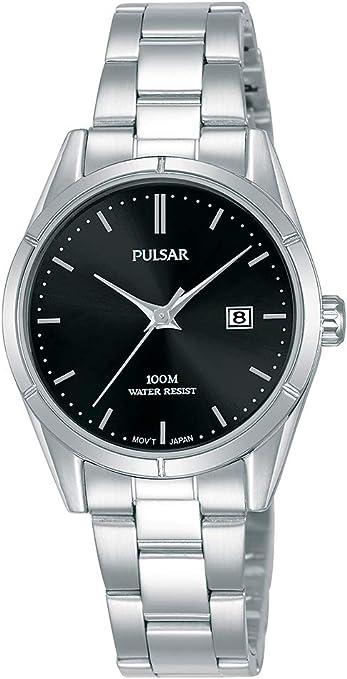 Pulsar - Reloj de Cuarzo para Mujer, Acero Inoxidable, con Correa de Metal