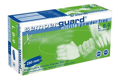 Semperguard Nitril Einweghandschuhe X-Tension, Box mit 100 Stück, Größe S