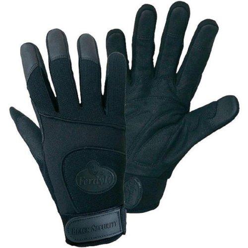 FerdyF. Black Security Mechanics-Handschuhe mit Spandex Rücken, 1 Paar, Gr. XL (10), Schwarz