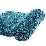 Walensee Bath Rug for Bathroom Non Slip Bathroom Mat (20 x 32, Teal) Water Absorbent Soft Microfiber Shaggy Bathroom Rug Machine Washable Bath Mat for Bathroom Thick Plush Shower Mat