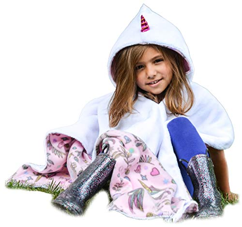 Unicorn Car Seat Poncho for Girls Toddlers Infants Traveling...