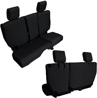 Bartact JKBC2013R4B - 2013-18 Baseline Performance Rear 4 Door Bench Seat Covers Jeep Wrangler JKU (Black)