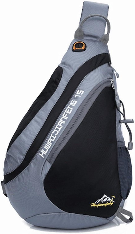 Professional Bag Sling Bag Waterproof Shoulder Backpack Crossbody Purse for Hiking Camping. Outdoor Travel Essentials (color   Black)