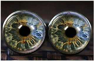 Gemelos de ojo, ojo joyas cristal Gemelos, realista Human Eyeball