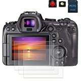 EOS R6 Screen Protector Appliable for Canon R6 Full-Frame Mirrorless Camera (3 Pack), PCTC 0.3mm 9H...