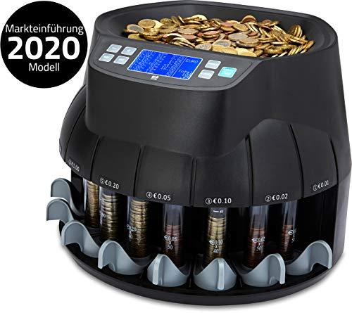 ZZap CS40 - Automatischer EURO Münzzähler & -sortierer - Geldzählmaschine Münzzählautomat Geldzähler