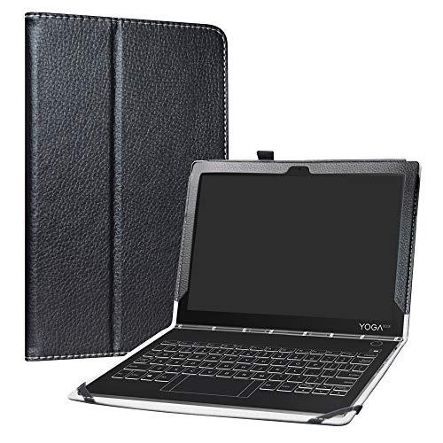 Yoga Book C930 Funda,LiuShan Folio Soporte PU Cuero con Funda Caso para 10.1' Lenovo Yoga Book C930 Android Tablet,Negro