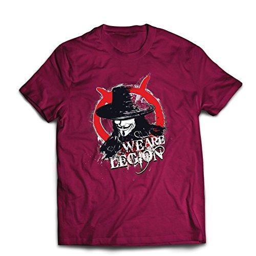 lepni.me Camisetas Hombre Somos la Legión Vendetta The Anonymous (X-Large Borgoña Multicolor)