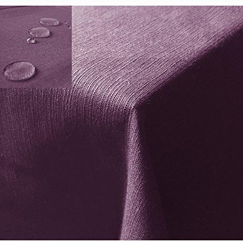 JEMIDI Tischdecke/Gartentischdecke Lotus Effekt Leinenoptik Tischdecke Decke Leinen Fleckschutz XL Lila Eckig 90cm x 90cm