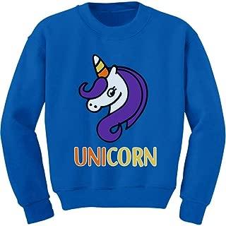 Tstars Cute Halloween Candy Corn Unicorn Youth Kids Sweatshirt