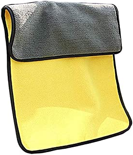 Car wash Towel Thick absorbent Coral Fleece Cleaning Towel Double Color Double-sided High-density Car wash Towel -45cmx 38cm