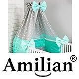 Amilian® Himmelstange Himmelhalter für Baby Kinderbett Bett inkl. Befestigung Himmelhalter zum Klemmen - 7