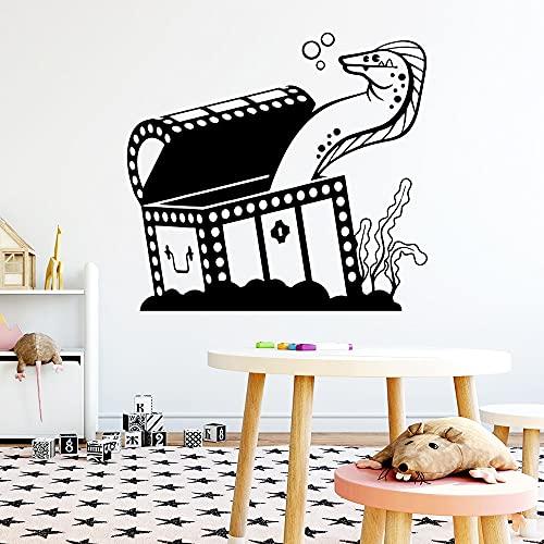 Caja de serpiente creativa pegatinas de pared impermeables para colgar en la pared decoración de arte sala de estar dormitorio calcomanías de pared extraíbles A9 57x61cm