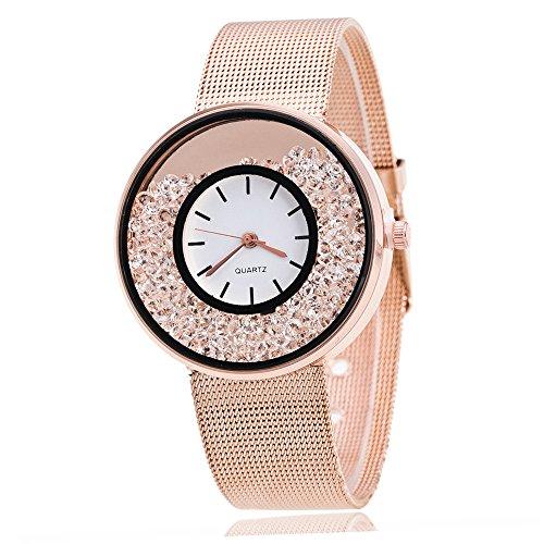 Mode Liebhaber Uhren Quarz Analog Handgelenk Legierung Geschäft Armbanduhr für Männer Frau Groveerble