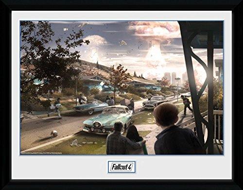 1art1 Fallout - 4, Sanctuary Hills Panic Gerahmtes Bild Mit Edlem Passepartout | Wand-Bilder | Kunstdruck Poster Im Bilderrahmen 40 x 30 cm