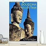 Bouddha Portraits du Sage (Premium, hochwertiger DIN A2 Wandkalender 2022, Kunstdruck in Hochglanz): Douze portraits de Bouddha pris dans des jardins et temples d'Asie. (Calendrier mensuel, 14 Pages )