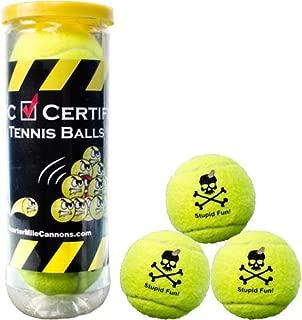 Quarter Mile Cannons Certified Tennis Balls - Set of 3