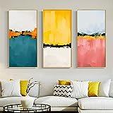 Geiqianjiumai Arte Abstracto Colorido Paisaje Lienzo Pintura Mural Imagen de Arte para Sala de Estar Dormitorio Entrada decoración Imagen sin Marco Pintura 50x100 cm