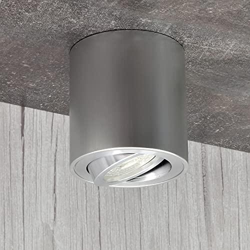 MILANO GU10 230V LED lampada alogena lampada cubo da soffitto plafoniera in alluminio Spot LAMPADINE...