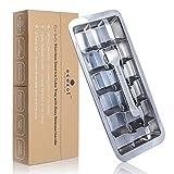 ecozoi Bandeja de cubitos de hielo de metal de acero inoxidable - 18 ranuras para cubitos de hielo - 1 paquete