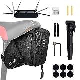 WOTOW Bike Tyre Repair Kits, Waterproof Bicycle Saddle Bag & 120 Psi...