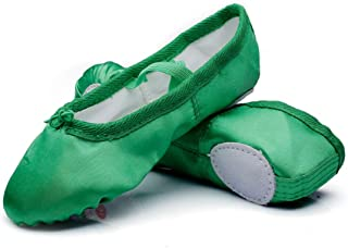MSMAX Girls Ballet Shoes Satin Performa Dance Slippers for Kids (Toddler/Little Kid/Big Kid)