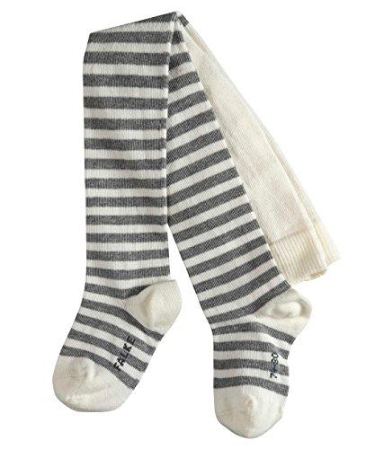 FALKE Baby Strumpfhosen Stripe - Baumwollmischung, 1 Stück, Weiß (Off-White 2041), 62-68