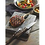 Tramontina Set of 4 Jumbo Steak Knives with Wooden Handles 5