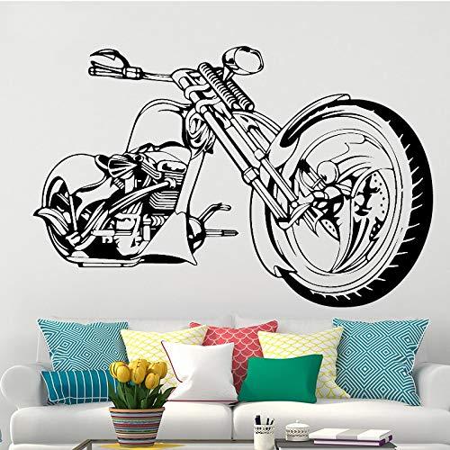 zqyjhkou Harley Motorrad Wandkunst Aufkleber Poster Für Wohnzimmer Schlafzimmer Dekoration Aufkleber Tapete Wandbild Sti60x91cm