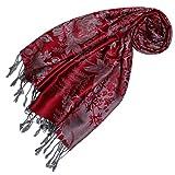 LORENZO CANA Designer Pashmina hochwertiger Marken-Schal floral gewebtes Blumen Muster