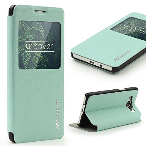 Urcover Custodia Galaxy A3 (2015), Wallet Case [Funzione S-View] Cover Libro Rigida, Custodia Portafoglio Samsung Galaxy A3 (2015) 4,5 Pollici Turchese