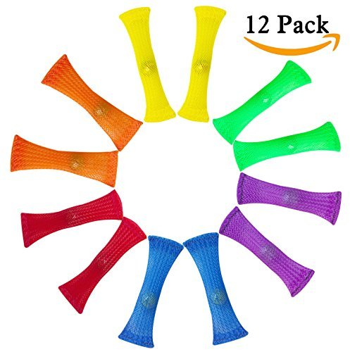 NewCool 12 Pack Extra Strong Fidget Toys Stress Relieve Toy - Sensory Marble Fidgets Help with Autism and ADHD for Children and Adults, Help Relieve Stress, Improve Concentration and Increase Focus