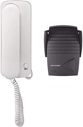 Porteiro Eletrônico Preto SE401 Permite Até 2 Extensões e Possui Controle de Fechadura Elétrica  - Multilaser