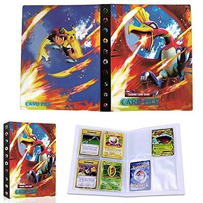 JAHEMU Pokemon Tarjeta Álbum Pokémon Tarjetas Carpeta Pokémon GX EX Tarjetas Álbum Tener 30 páginas Puede Contener hasta 240 Tarjetas de JAHEMU