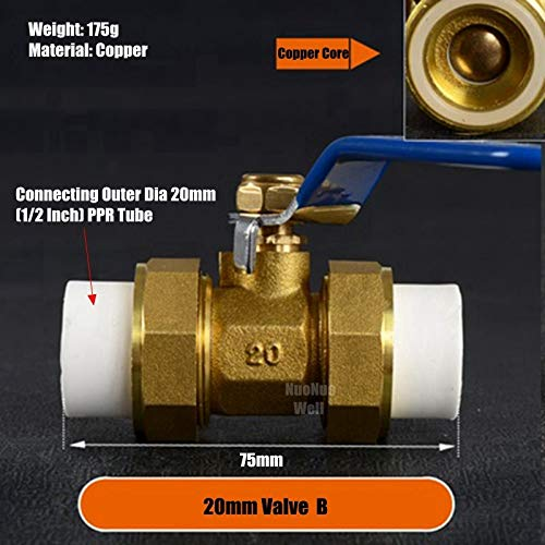 Bureau 1 stks 20/25/32mm Dubbele Losse Joint PPR Koper Globe Klep Solar Heater Tap Water Verwarming Pijpfittingen Irrigatie Pijpbediening