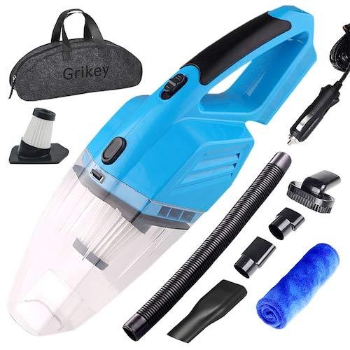 HaiMa Limpiador de vacío de coche limpiador de mano limpiador de vacío mini limpiador de vacío para el coche aspirador 5kpa potentes limpiadores de vacío Auto - azul CHINA