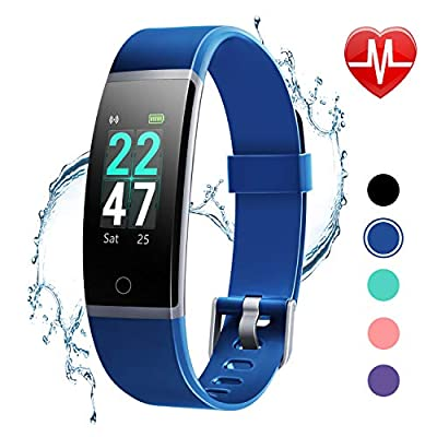 LETSCOM Fitness Tracker with Heart Rate Monitor, Color Screen Activity Tracker Watch, IP68 Waterproof Pedometer Watch Sleep Monitor Step Counter for Women Men Kids