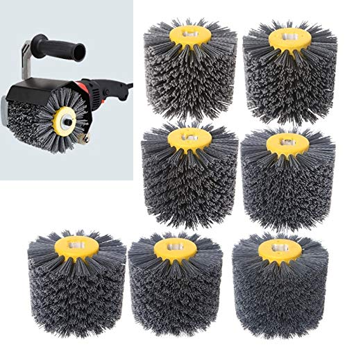 Great Deal! Xucus Deburring Abrasive Wire Drawing Round Brush Head Polishing Grinding Tool Buffer Wh...