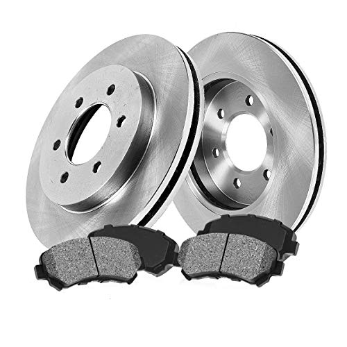 [ Pickup SUV Series ] FRONT 287 mm Premium OE 6 Lug [2] Brake Disc Rotors + [4] Metallic Brake Pads CRK11087