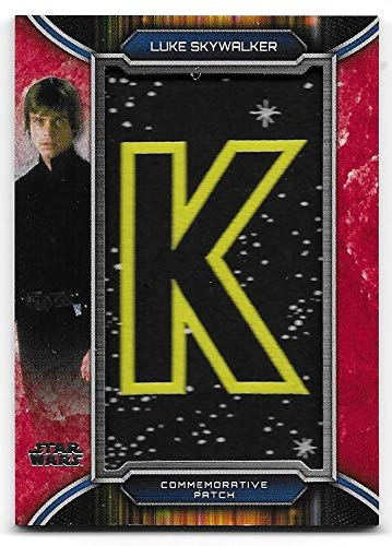 2019 Topps Star Wars Skywalker Saga - Nameplate Patch Letter Relic - RED 1/1 Luke - Extremely Rare image