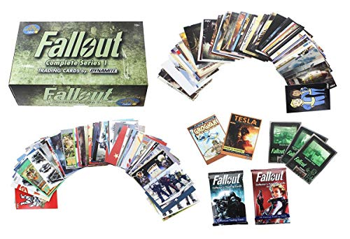 Dynamite Entertainment Fallout Trading Cards Series 1 - Complete Base Set w/ Bonus Cards & Packs