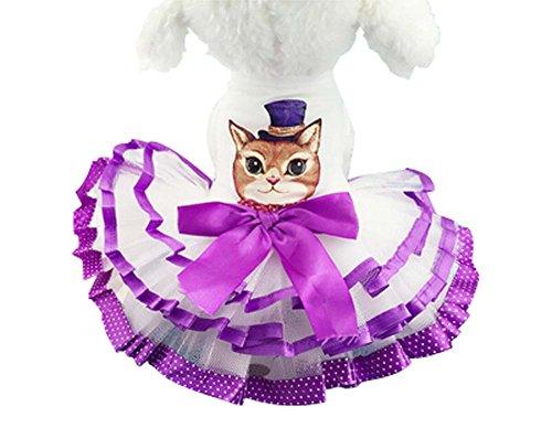 Animaux Vêtements Style Princesse Chiens Vêtements (Purple Cat, XS)