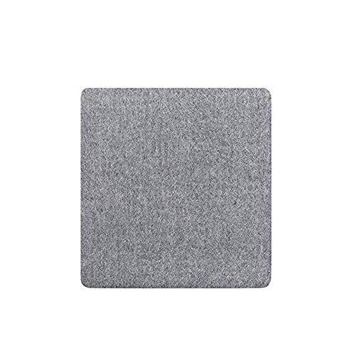 Bestine Tappetino da stiro in lana pressata per stirare, colore grigio