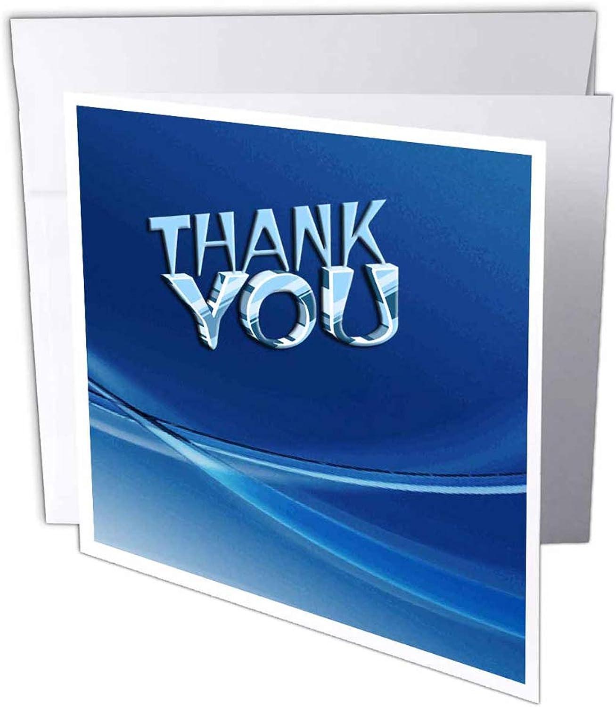 3dRosa gc_17504_2 Grußkarten mit Aufschrift Thank You Blau , 15 x 15 cm, 12 Stück B07BJD4TF4 | Förderung